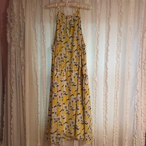 Plus Size lemon print dress